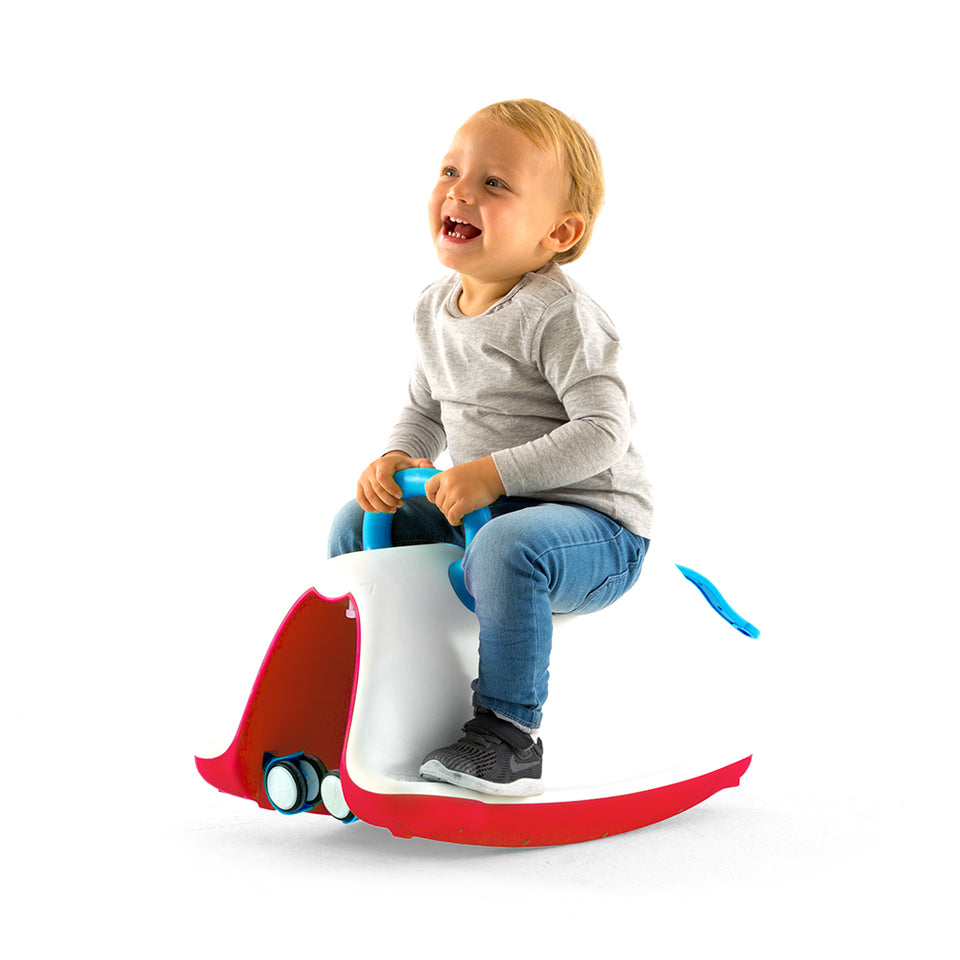 Trackie 4-in-1 rocker and riding toy