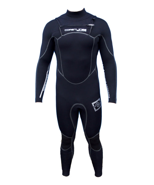 Mens 4/3 High End Steamer Wetsuit - Grey