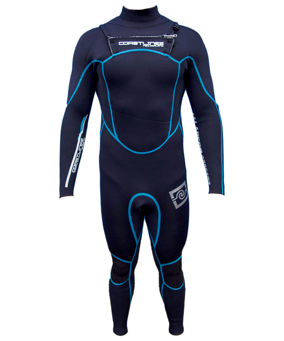 Mens 4/3 High End Steamer Wetsuit - Blue