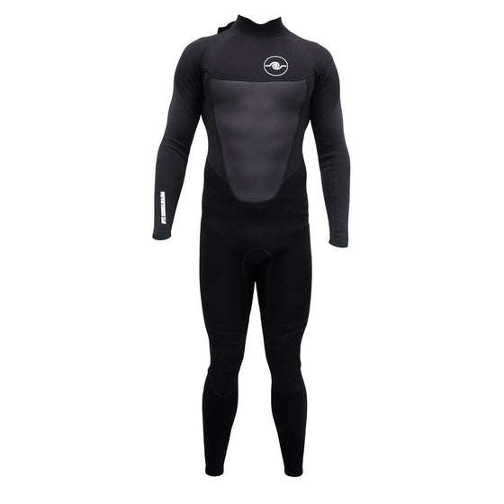 Mens 3/2 Long Sleeve Steamer Wetsuit - Black