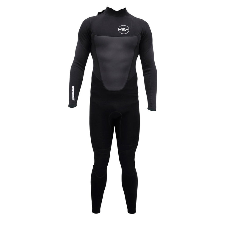 Mens 3/2mm Long Sleeve Steamer Wetsuit : Black