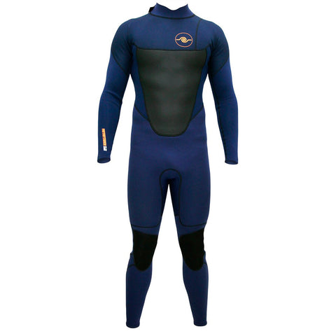 Mens 3/2mm Long Sleeve Steamer Wetsuit : Navy