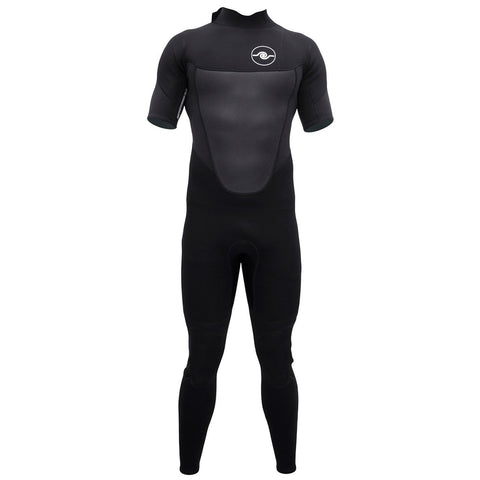 Mens 3/2mm Short Sleeve Steamer Wetsuit : Black
