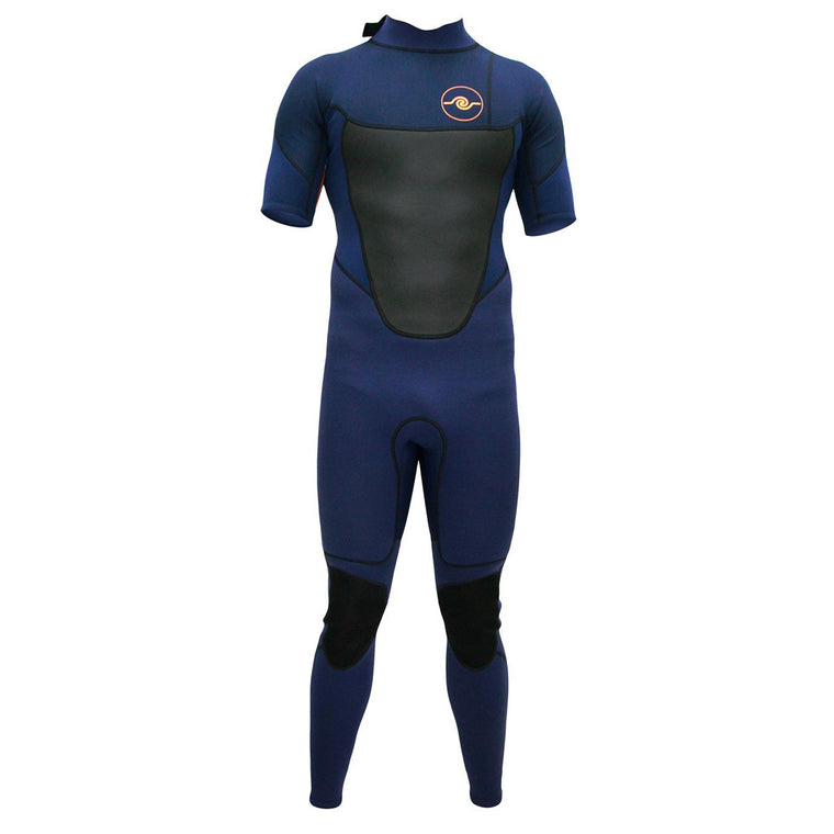 Mens 3/2mm Short Sleeve Steamer Wetsuit : Navy