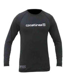 Mens Long Sleeve Rash Top - Black