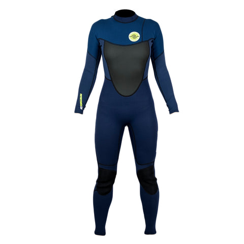Womens 3/2 Steamer Wetsuit : Navy