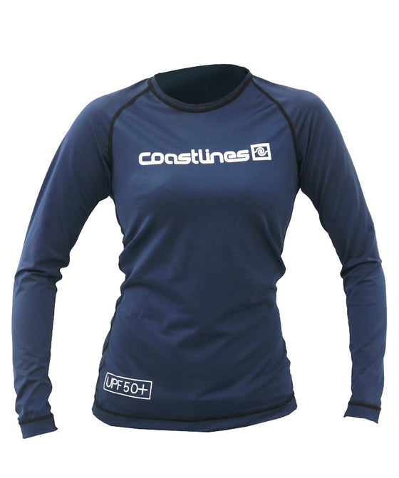 Womens L/S Rash Top - Navy