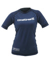Womens S/S Rash Top - Navy