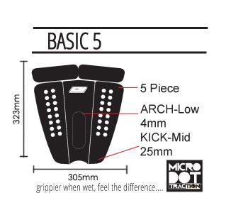 Prolite Basic Five Traction Pad - Black