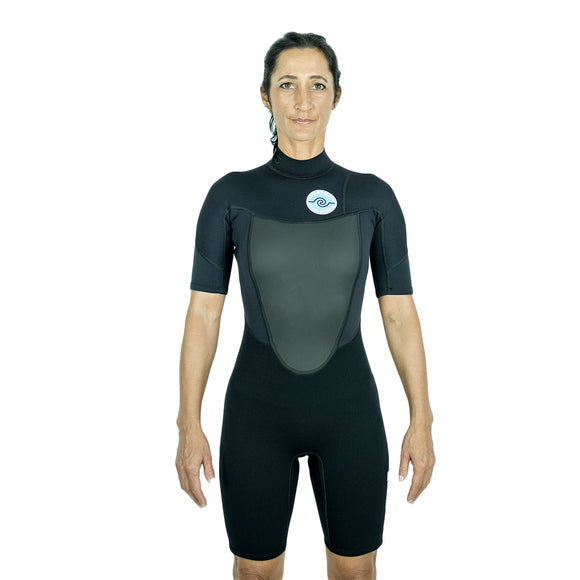 Womens 2/2 Spring Wetsuit - Black 8 - 16
