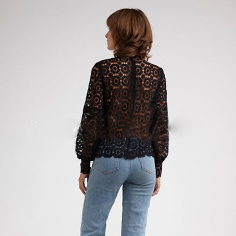 GOTCHA Elenor Floral Lace Blouse Shirt
