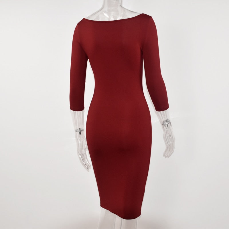 GOTCHA  CHRISTINA Club L ow Cut Bodycon Dress