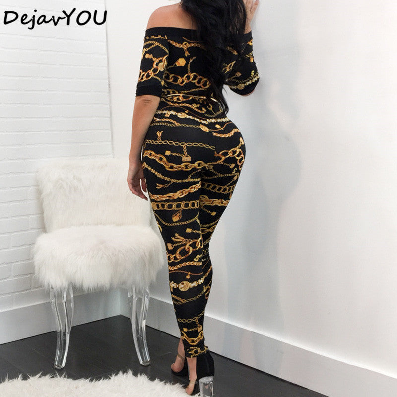 GOTCHA Autumn Off Shoulder Jumpsuit