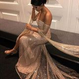 Adyce 2019 New Summer Sexy Women Off Shoulder Sequined Celebrity Evening Party Dress Elegant Long Sleeve Maxi Club Dress Vestido