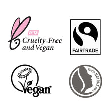 Load image into Gallery viewer, FAIR SQUARED Certifications | Cruelty-Free Fairtrade Vegan Natural Halal | BeoVERDE.ie