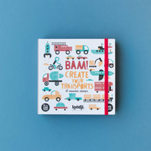 Load image into Gallery viewer, Londji BAM! TRANSPORTS Stamp Set | Creativity Vehicle Stamp Set for Kids | Box Front | BeoVERDE.ie