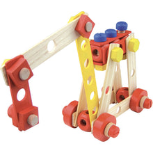 Load image into Gallery viewer, Vilac Wooden Construction Building Set 'Batibloc' | Educational Wooden Toy | Excarvator | BeoVERDE.ie
