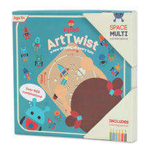 Load image into Gallery viewer, Space - Rotating Wooden Drawing Stencil Kit for Children | Kipod Toys | Wooden Arts & Crafts Kit | Educational Wooden Toy | Packaging Front | BeoVERDE.ie