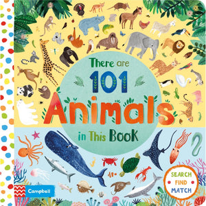 There Are 101 Animals in This Book | Children's Board Book on Animals