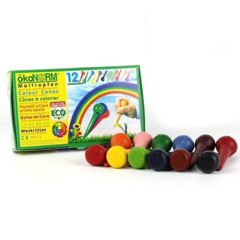 Child-Safe Vegan Wax Crayons | 12 Vibrant Colours | BeoVERDE.ie