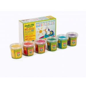 Child-Safe Natural Modelling Clay | 6 Vibrant Colours | BeoVERDE.ie