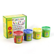 Load image into Gallery viewer, Child-Safe Natural Finger Paint | 4 Vibrant Colours | BeoVERDE.ie