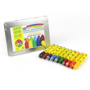 Non-Toxic Natural Oil Pastels | 10 Vibrant Colours | BeoVERDE.ie