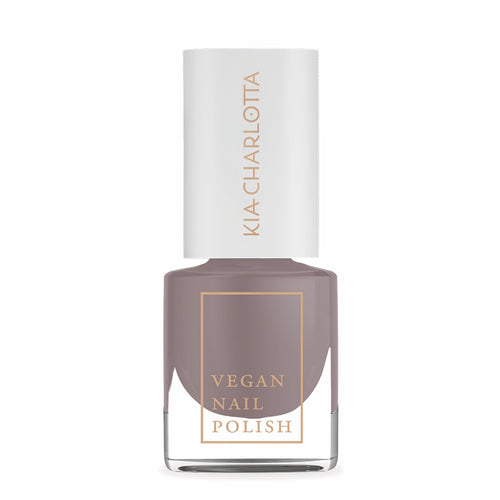 KIA CHARLOTTA Nail Polish Courageous | Dark Beige, Taupe | Vegan Cruelty-Free 14-Free | Bottle | BeoVERDE.ie