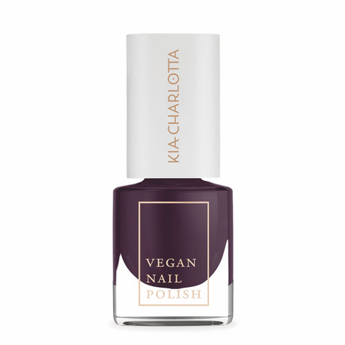 KIA CHARLOTTA Nail Polish Intelligent | Dark Purple Plum | Vegan Cruelty-Free 14-Free | Bottle | BeoVERDE.ie