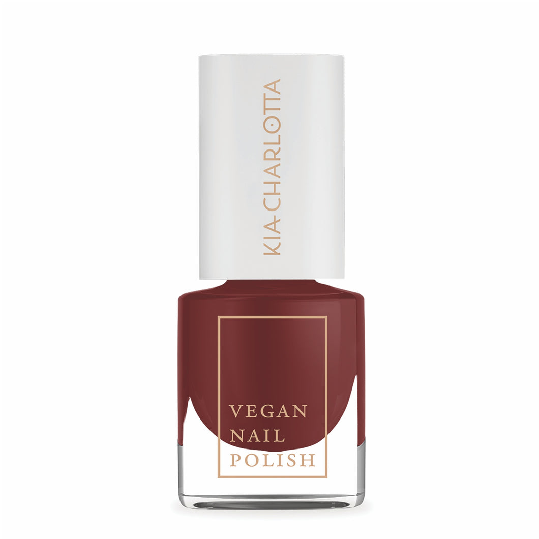 KIA CHARLOTTA Nail Polish 'Successful' | Beautiful Classic Cherry Red | Vegan | Cruelty-Free | 14 Toxin Free | 5ml