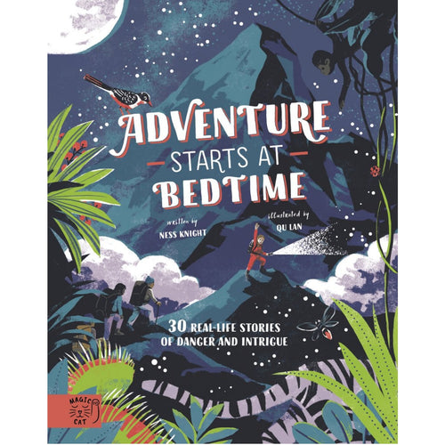 Adventure Starts at Bedtime | Children's Book on Adventures | Magic Cat Publishing | Book Cover | BeoVERDE.ie