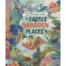 Load image into Gallery viewer, The Magic Carpet's Guide to Earth's Forbidden Places | Children's Book on Travel & Adventures | Magic Cat Publishing | Book Cover | BeoVERDE.ie