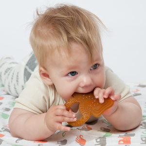 Grunspecht Organic Rubber Baby Teether 'Elephant' | Lifestyle Teething Ring | BeoVERDE.ie