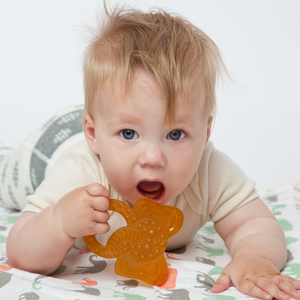 Grunspecht Organic Rubber Baby Teether 'Elephant' | Lifestyle Two Teething Ring | BeoVERDE.ie