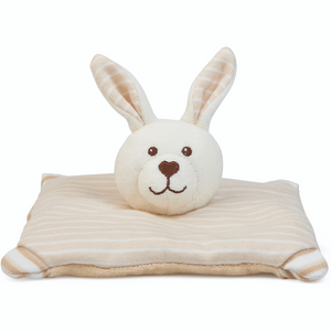 Large Warming Pillow for Babies | Rabbit | Organic Flax Seeds and Organic Cotton | BeoVERDE.ie