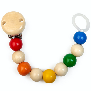 Grunspecht Natural Wooden Dummy Clip 'Rainbow' | BeoVERDE.ie