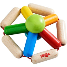 Load image into Gallery viewer, Colour Carousel | Clutching Toy | Baby's First Wooden Toy | HABA | Top-Front View | BeoVERDE.ie