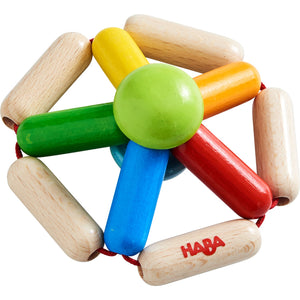 Colour Carousel | Clutching Toy | Baby's First Wooden Toy | HABA | Top-Front View | BeoVERDE.ie