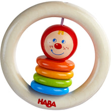 Load image into Gallery viewer, Happy Clown | Clutching Toy | Baby's First Wooden Toy | HABA | Front View | BeoVERDE.ie