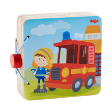 Load image into Gallery viewer, Fire Brigade | Wooden Baby Book | Baby's First Book Toy | HABA | Book Closed | BeoVERDE.ie