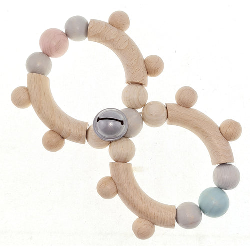 Infinity | Rattle and Clutching Toy | Baby's First Wooden Toy | Hess | Top-Front View | BeoVERDE.ie