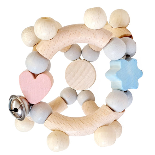 RingaRing | Rattle and Clutching Toy | Baby's First Wooden Toy | Hess | Right Side | BeoVERDE.ie