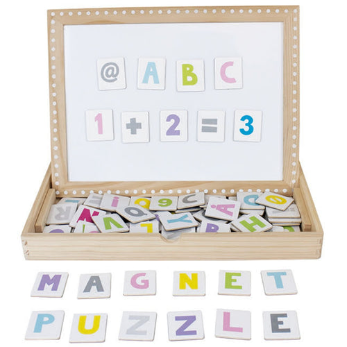 JaBaDaBaDo Magnetic Letters & Numbers Board | Wooden Educational Toy | Front View | BeoVERDE.ie