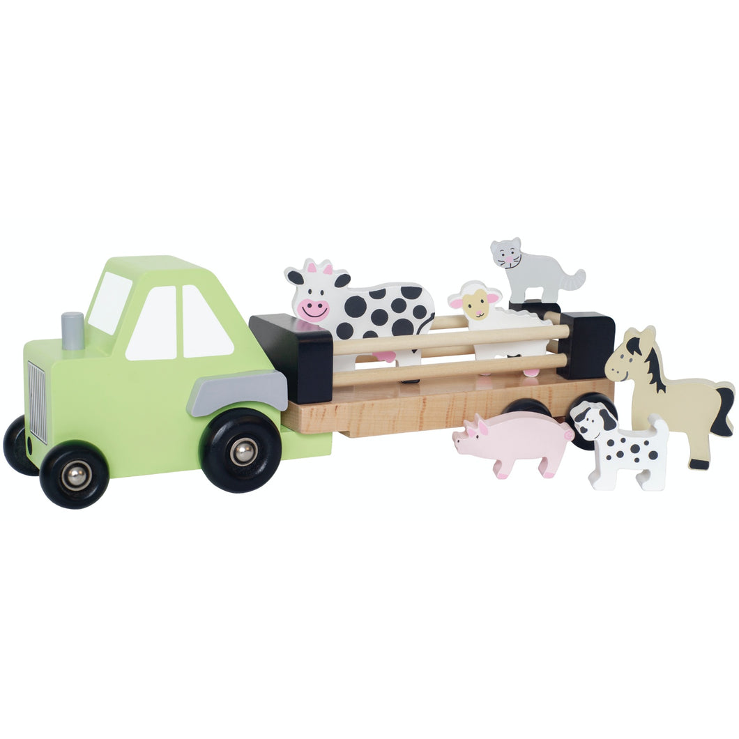 JaBaDaBaDo Farm Tractor | Wooden Imaginative Play Toy | Front View | BeoVERDE.ie