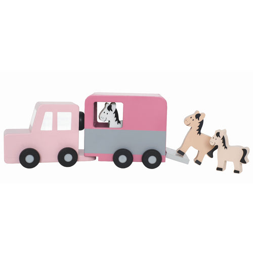 JaBaDaBaDo Horse Trailer | Wooden Imaginative Play Toy | Front View | BeoVERDE.ie