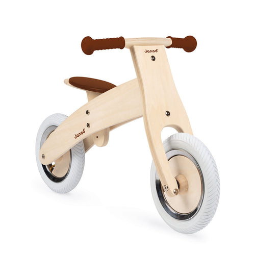 Janod Nature Balance Bike | Activity Wooden Toy| Bikes & Scooters | Side View | BeoVERDE.ie