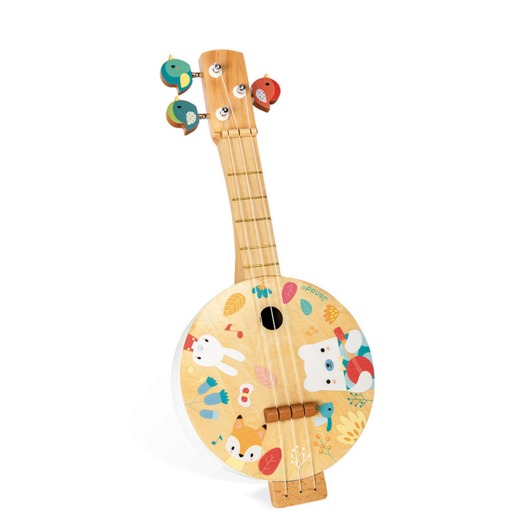 Janod Pure Bajo | Musical Toy | Wooden Toddler Activity Toy | Front View – Upright Left | BeoVERDE.ie