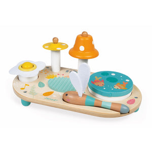 Janod Pure Musical Table | Wooden Toddler Activity Toy | Front View | BeoVERDE.ie