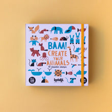 Load image into Gallery viewer, Londji BAM! ANIMALS Stamp Set | Creativity Stamp Set for Kids | Front View – Closed Box | BeoVERDE.ie