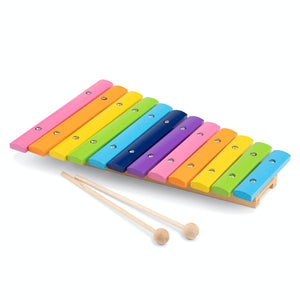 New Classic Toys Rainbow Xylophone | Musical Toy | Wooden Toddler Activity Toy | Front Side View | BeoVERDE.ie